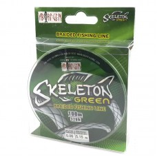 Плетеный шнур Skeleton green 100м