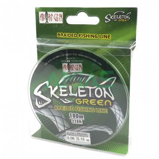 Плетеный шнур Skeleton green 100м.