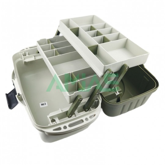 Ящик для рыбалки Aquatech 2702 на 2 полки
