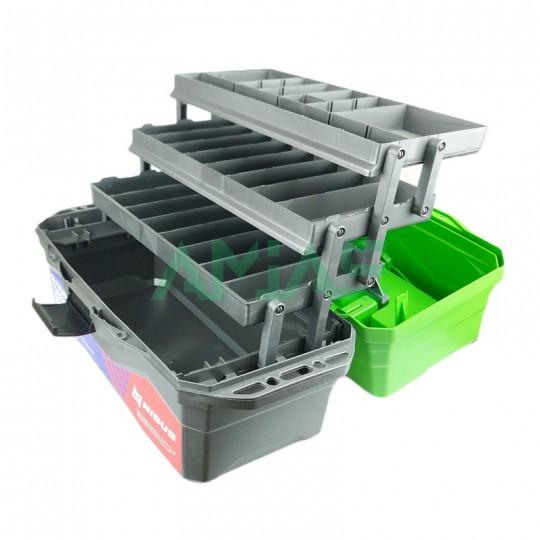 Ящик для снастей NISUS 3х полочный рыболовный
