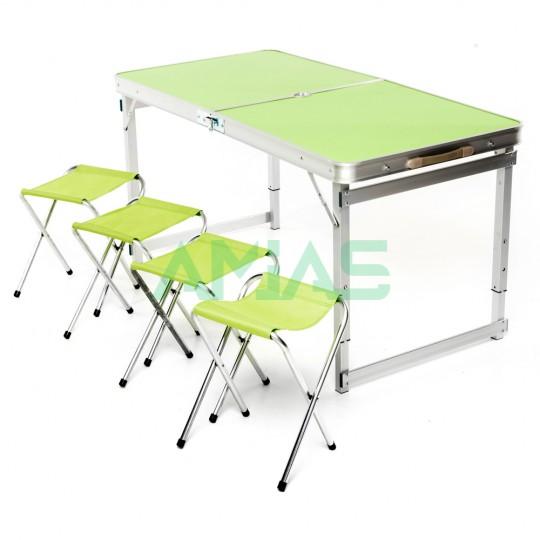 Стол кемпинговый складной +4 стула