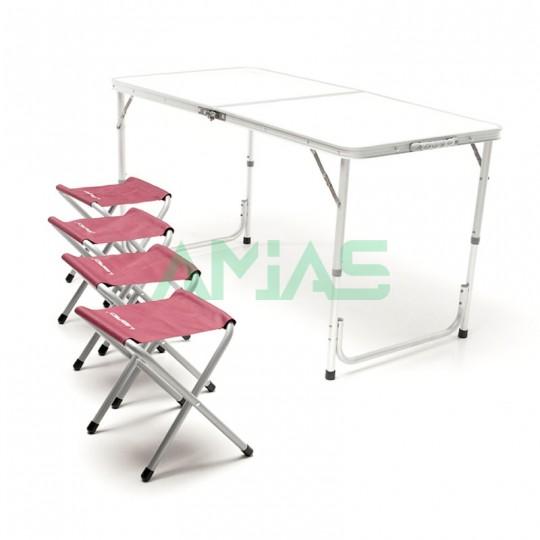 Стол туристический складной +4 стула