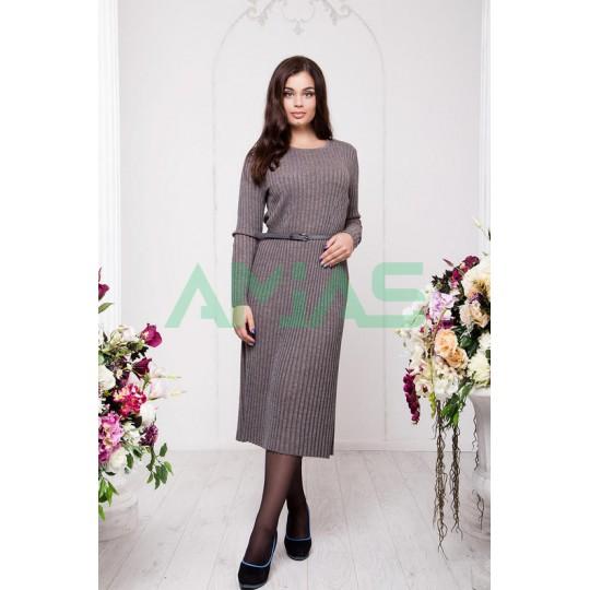 Серое трикотажное платье, Арт. А15