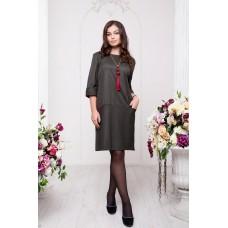 Платье с контрастной отделкой, Арт. А7