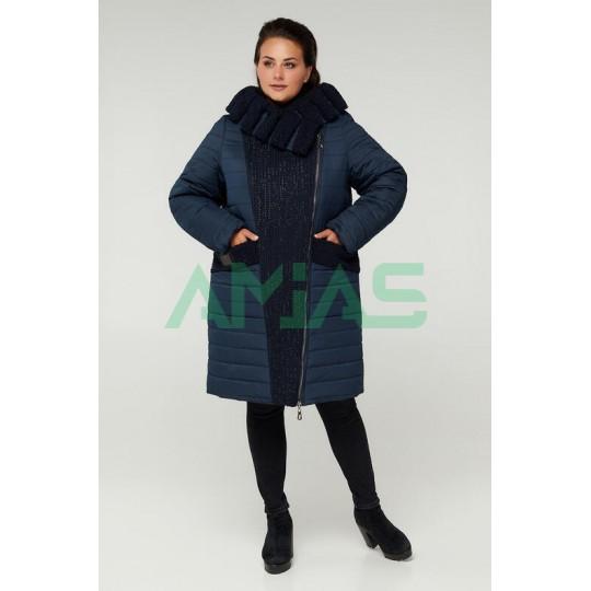 Женское зимнее комбинированное пальто, Riches Арт. 606