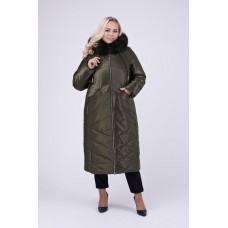 Зимнее женское пальто с натуральной опушкой, Riches арт.693