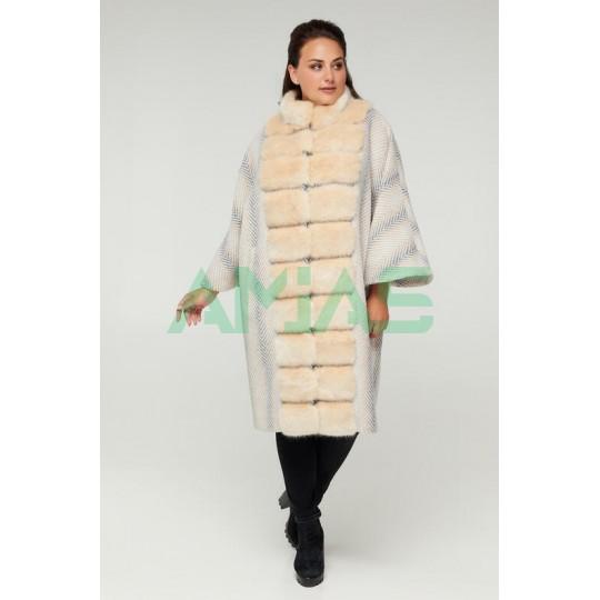 Женское елегантное пальто принт Riches арт.688