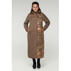 Длинное стеганное пальто женское Riches 893